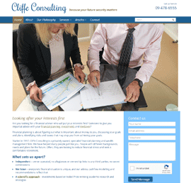 Screen shot of Cliffe Consulting