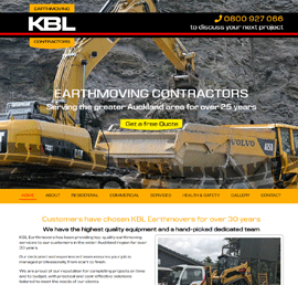 Screen shot of KBL Earthmovers