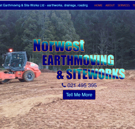 Screen shot of Norwest Earthmoving