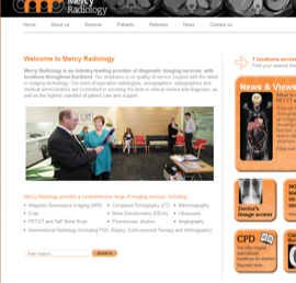 Screen shot of Mercy Radiology