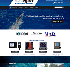 Screen shot of Waypoint Electronics
